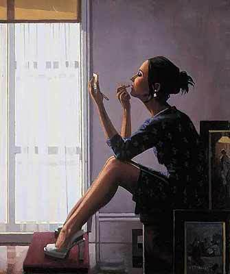 Only the deepest red - Jack Vettriano